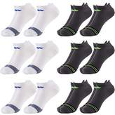 Sof Sole 6 Pairs) Men's No Show Athletic Sports Tab Selective Cushion Socks Fits