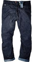 River Island MensDark blue wash slouchy fit jeans