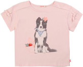Billieblush Girl's Dog Graphic Short-Sleeve Tee w/ Bows, Size 4-10