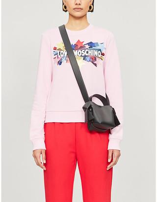 Love Moschino Logo-print jersey sweatshirt