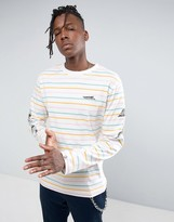 Billionaire Boys Club Long Sleeve T-Shirt With Candy Stripes