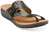 Clarks Perri Coast Patent Leather Thong Sandals