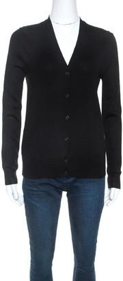 Prada Black Wool Knit Button Front Cardigan XS