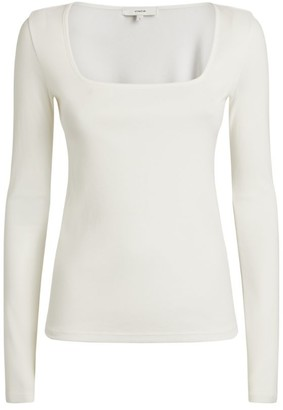 Vince Square-Neck Top