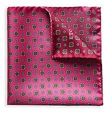 Eton Men's Quadrent Silk Pocket Square