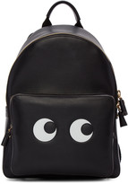 Anya Hindmarch Black Mini Eyes Right Backpack