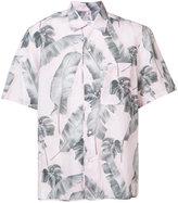 Oamc leaf print shirt - men - Cotton/Linen/Flax - L