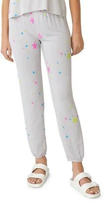 Monrow Neon Stars Sweatpants