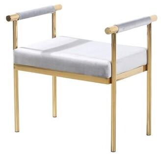 Mercer41 Kelemen Amazingly Bedroom Bench Mercer41 Base/Seat Color: Gold/Gray