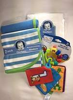 Gerber Baby Gift Bundle - 3 Items 2-pack Thermal Receiving Blankets, Woven Fitted Crib Sheet, and Baby Einstein Take Along Discovery Cards