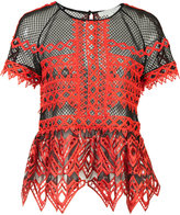 Jonathan Simkhai ruffled sheer blouse - women - Polyester/Spandex/Elastane - 4