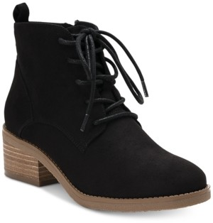 Style&Co. Style & Co Rizio Lace-Up Ankle Booties, Created for Macy's Women's Shoes
