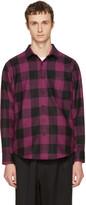 Ami Alexandre Mattiussi Black and Purple Large Check Shirt