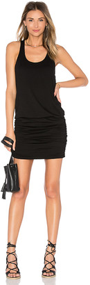 Michael Stars Scoop Neck Shirred Racerback Dress