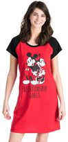 Disney Disney's Mickey & Minnie Mouse Juniors' Pajamas: Graphic Sleep Shirt