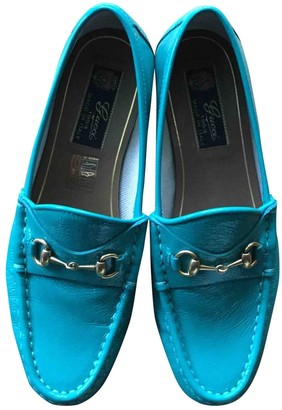 Gucci Turquoise Patent leather Flats