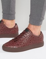 Religion Ostrich Print Trainers