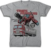 Freeze Transformers Optimus Prime Heather Grey Adult T-Shirt