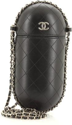 Chanel Chain Around Phone Holder Box Crossbody Quilted Lambskin