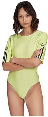 adidas Bodysuit (Semi Frozen Yellow) Women's Jumpsuit & Rompers One Piece