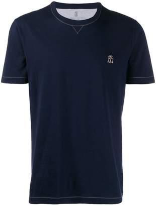 Brunello Cucinelli contrast stitching T-shirt
