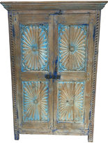 One Kings Lane Vintage 19th-C. French Blue Pine Cupboard