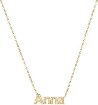 Zoe Lev Jewelry 14k Diamond Name Necklace