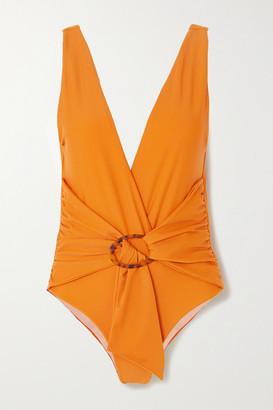 Johanna Ortiz Papaya Land Belted Swimsuit - Bright orange