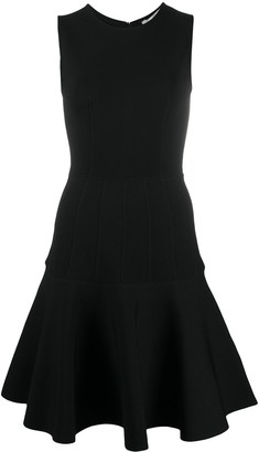 Valentino Panelled Flared Sleeveless Mini Dress