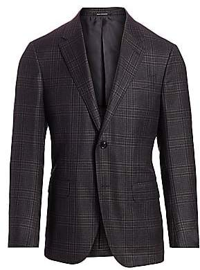 Ermenegildo Zegna Men's Plaid Wool Jacket