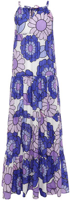 Dodo Bar Or Dorothy Gathered Floral-print Cotton Maxi Dress