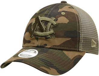 New Era Women's Camo North Carolina Tar Heels Trucker 9TWENTY Adjustable Hat