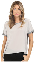 Heather Silk Front Tee