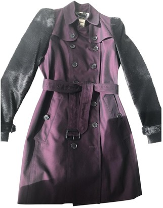 Burberry Purple Leather Coat for Women