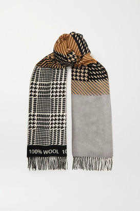 Johnstons of Elgin + Mother Of Pearl Murray Wool-jacquard Scarf - Gray