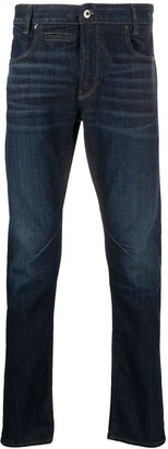 G Star Mid Rise Straight-Leg Jeans