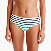J.Crew Seamed bikini boy short in ombré stripe