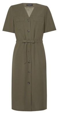 Dorothy Perkins Womens Khaki Utility Belted Dress