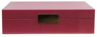 Addison Ross Lacquered Crocodile-Embossed Box