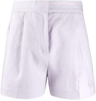MICHAEL Michael Kors High-Rise Linen Shorts