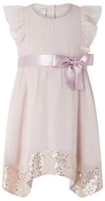 Monsoon - Pink Baby 'Erin' Sparkle Dress