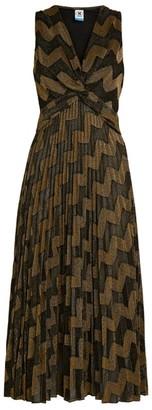 M Missoni Twist-Front Zigzag Midi Dress