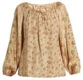 Mes Demoiselles Pavane floral-print silk blouse
