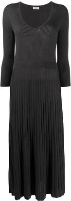 Liu Jo Ribbed-Knit Midi Dress