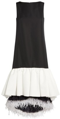 Huishan Zhang Feather-Trim Jodie Dress