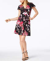 INC International Concepts I.n.c. Petite Printed Surplice Fit & Flare Dress, Created for Macy's