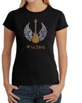 Freebird Women's Large Word Art T-Shirt in Black