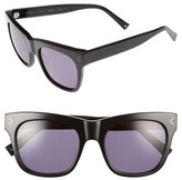 KENDALL + KYLIE Women's Cassie 54Mm Sunglasses - Black/ White Marble