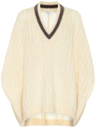 Brunello Cucinelli Mohair and wool-blend poncho