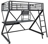 Powell Company Z-Bedroom Study Loft Bunk Bed Black (Full)